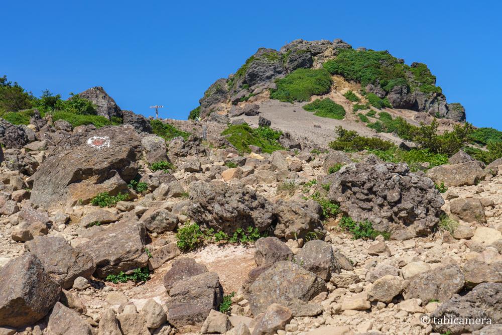 安達太良山 山頂 乳首