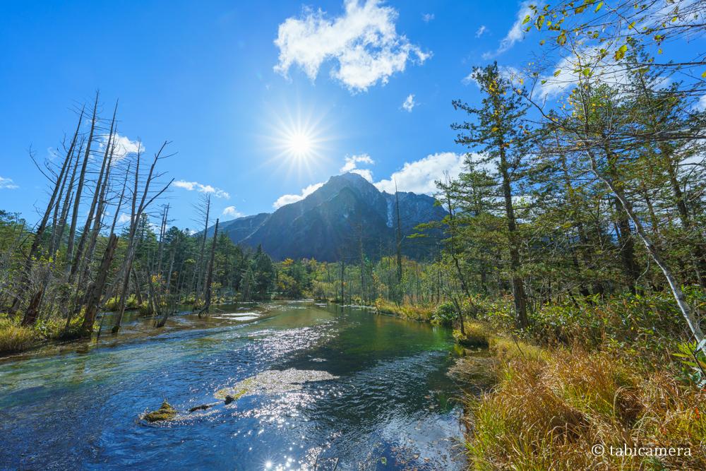 秋の上高地 岳沢湿原