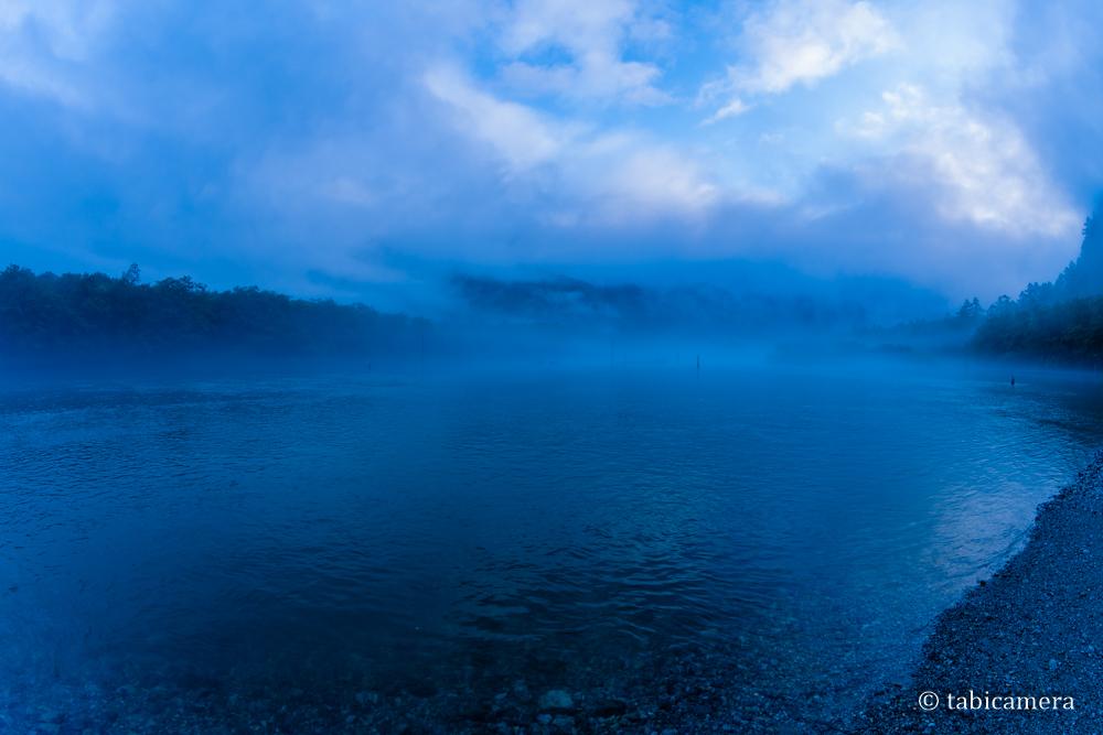 上高地の早朝 大正池