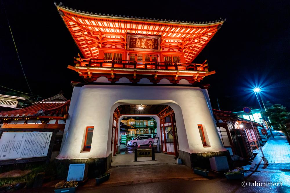 武雄温泉楼門の夜景