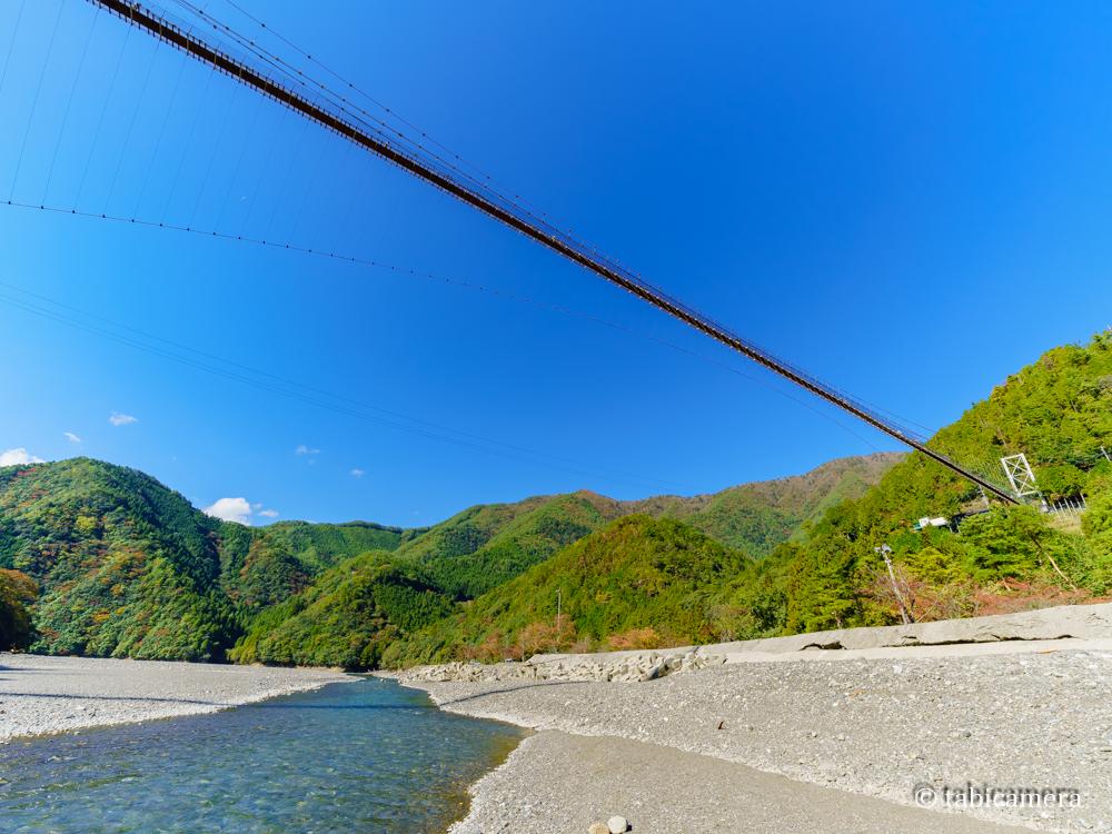 十津川の谷瀬の吊り橋