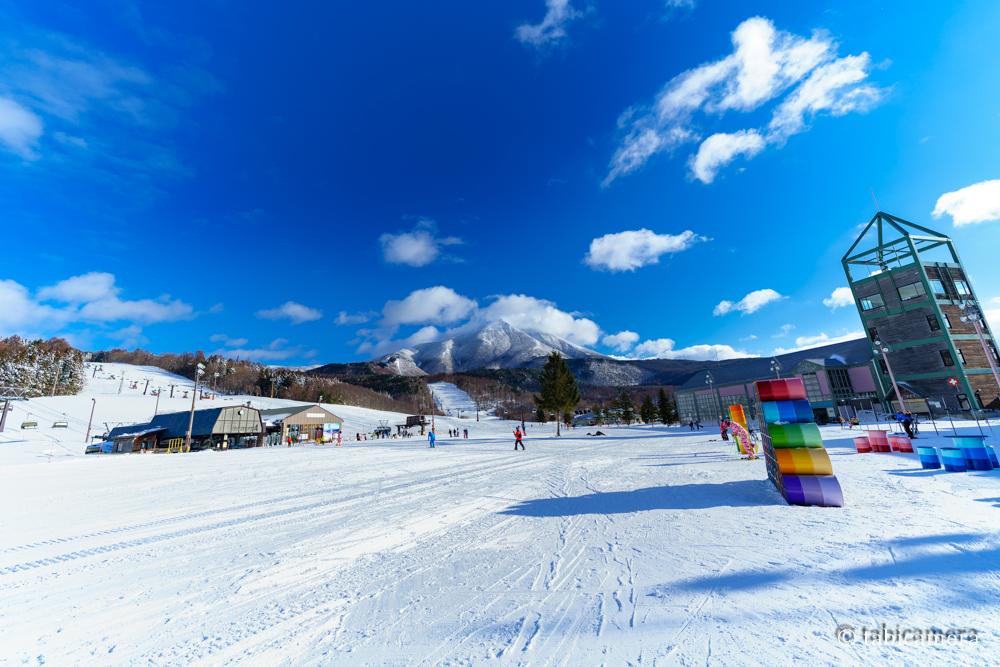 アルツ磐梯スキー場と磐梯山