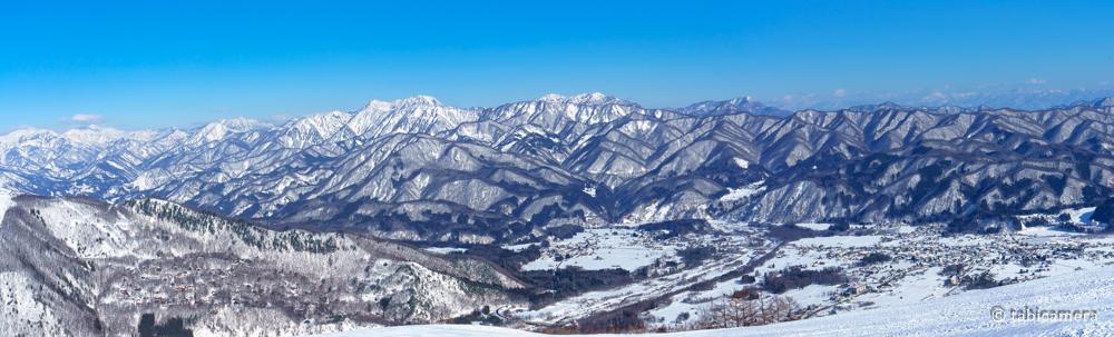 八方尾根スキー場からの白馬の山々