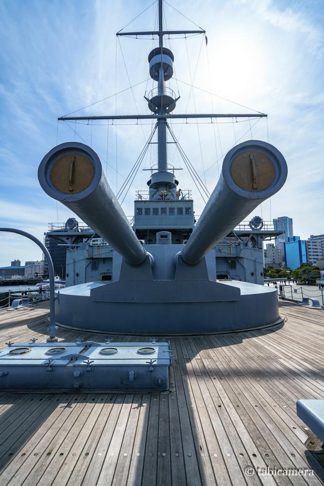 横須賀の戦艦三笠の砲塔