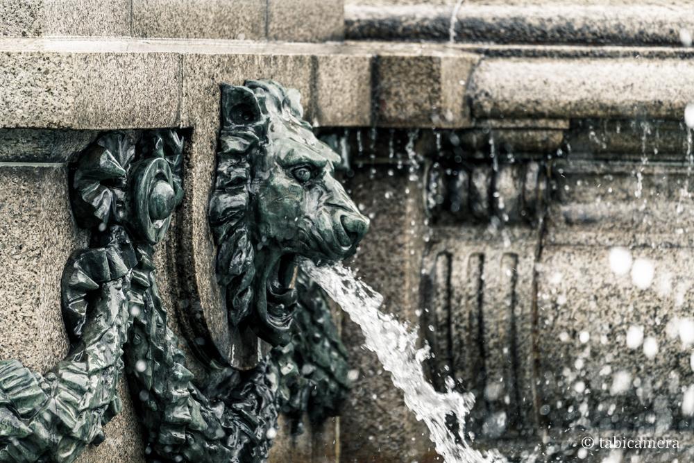 赤坂迎賓館の噴水のマーライオン