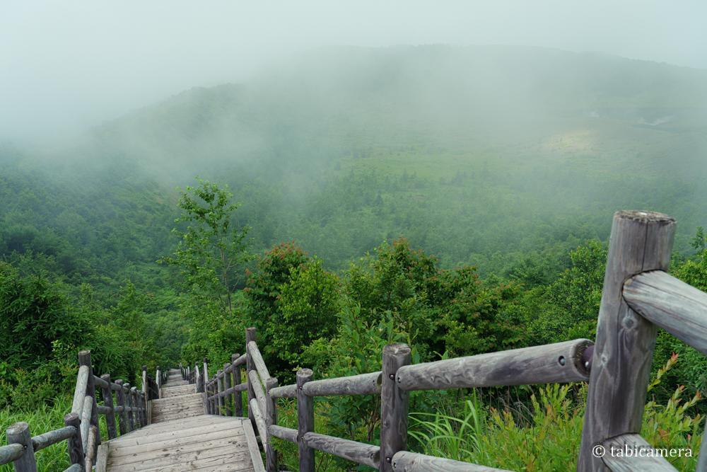 有珠山外輪山展望台への階段