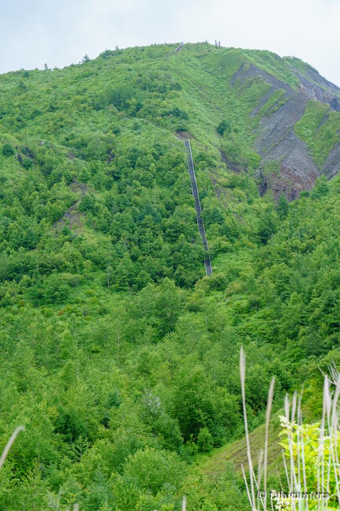 有珠山外輪山の階段