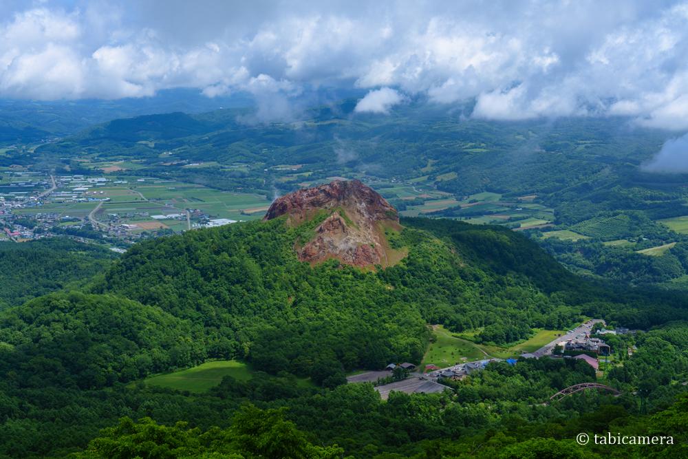 有珠山ロープウェイ展望台からの昭和新山