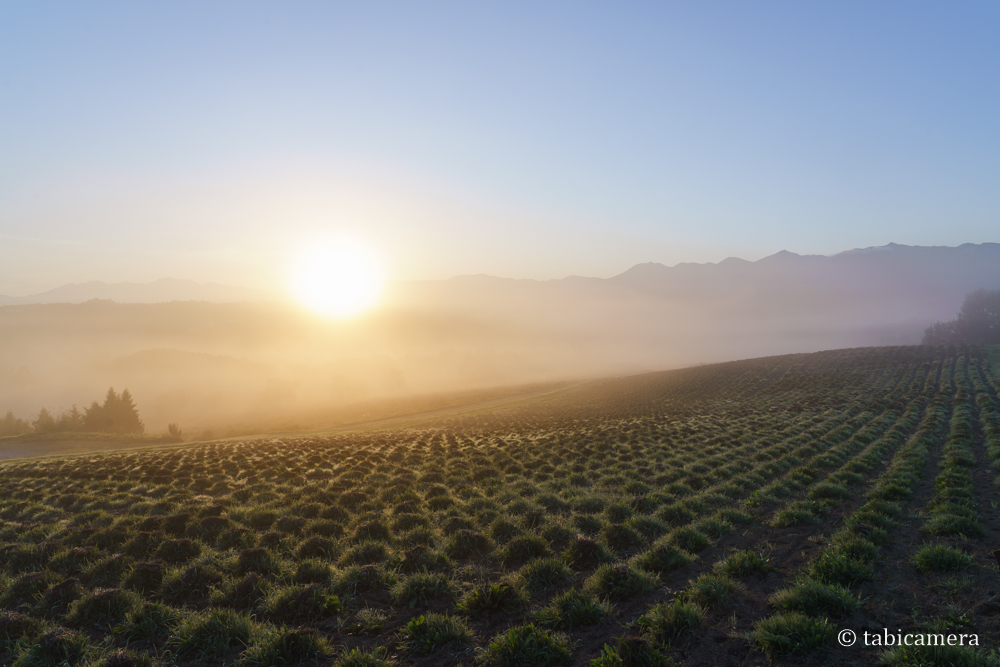 深山峠からの日の出