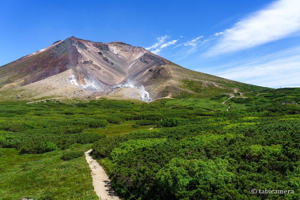 夏の北海道大雪山山系旭岳