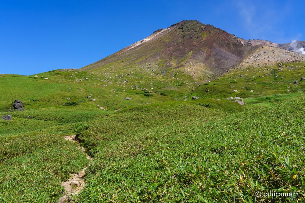 夏の旭岳登山
