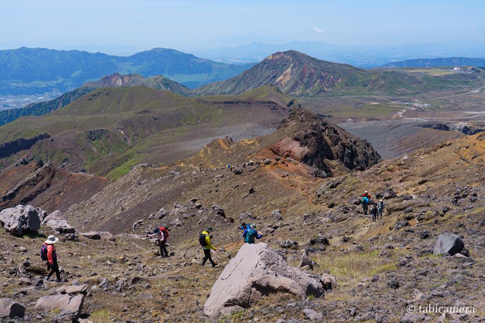 阿蘇 中岳への登山道
